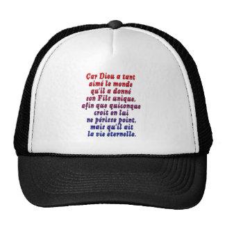 John 3 16 French Hat