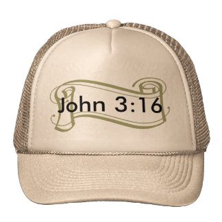 John 3:16 Front, Verse on the Back Cap