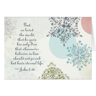 John 3:16 God so Loved the World Christmas Bible Card