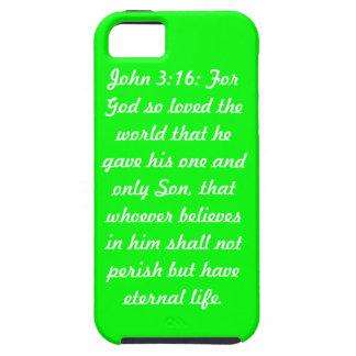 John 3:16 Green Case-Mate Tough™ iPhone 5 Cases