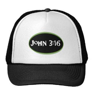 John 3:16 Green Mesh Hat