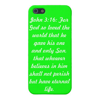 John 3:16 Green i Phone Speck® Case for iPhone 4/4 iPhone 5/5S Cases