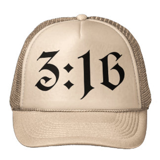 John 3:16 mesh hat