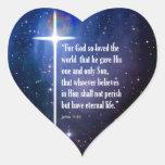 John 3:16 heart sticker