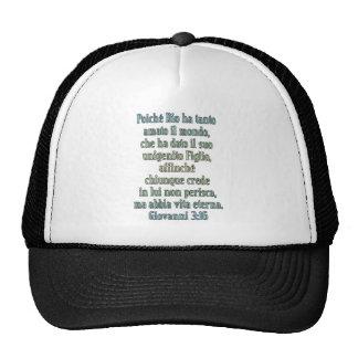 John 3 16 Italian Trucker Hats