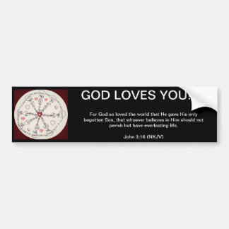 John 3:16 Mandala Bumper Sticker