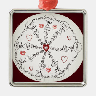 John 3:16 Mandala Christmas Ornament