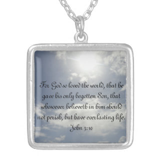 John 3:16 personalized necklace