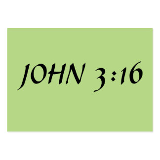 John 3:16 pack of chubby business cards