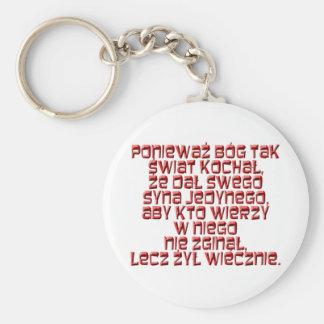 John 3:16 Polish Key Ring