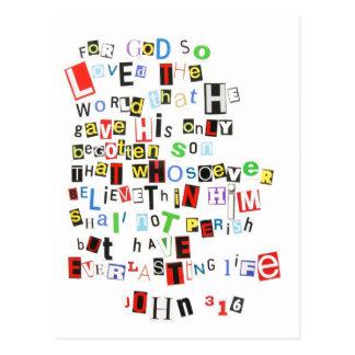 John 3:16 post cards