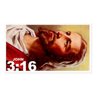 John 3:16 revised pack of standard business cards