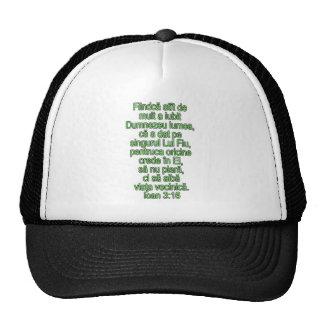 John 3:16 Romanian Mesh Hats
