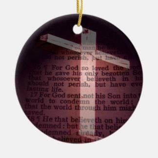 John 3:16 round ceramic decoration