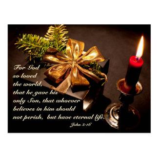 John 3:16 Scripture God so Loved the World Custom Postcard