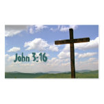 John 3:16 Scripture Memory Card, Cross Pack Of Standard Business Cards