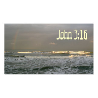 John 3:16 Scripture Memory Card, Sunset Pack Of Standard Business Cards