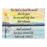 John 3:16 sharing Card Business Card Template
