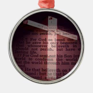 John 3:16 Silver-Colored round decoration
