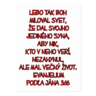 John 3:16 Slovak Postcard