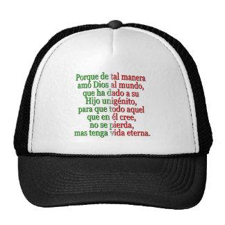 John 3 16 Spanish Mesh Hat