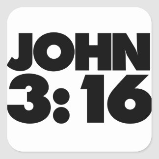John 3:16 square sticker