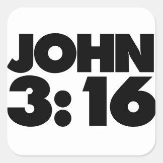 John 3:16 square sticker