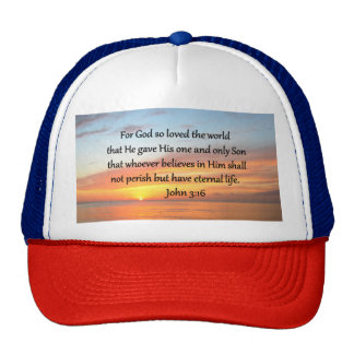 JOHN 3:16 SUNRISE OVER THE OCEAN PHOTO CAP