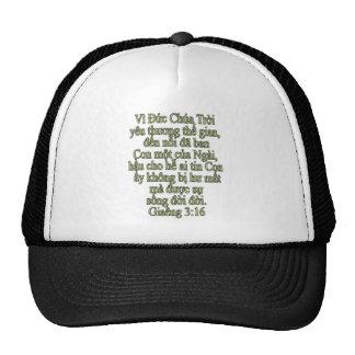 John 3 16 Vietnamese Trucker Hats