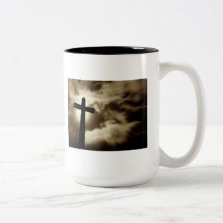 John 3:16 With Cross Two Tone Coffee Mug