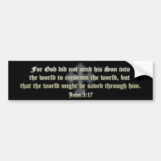 John 3:17 bumper stickers
