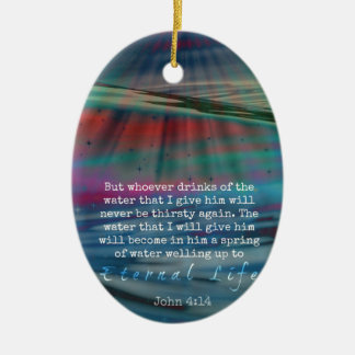 John 4:14 Water and Sky Christmas Ornament
