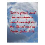 John 4:24 post cards