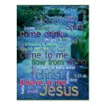 John 7:37-41 Rushing Stream Post Card