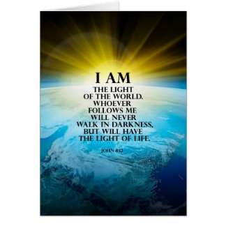 John 8:12 card