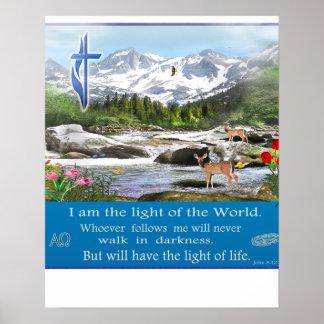 John  8:12   I am the light poster