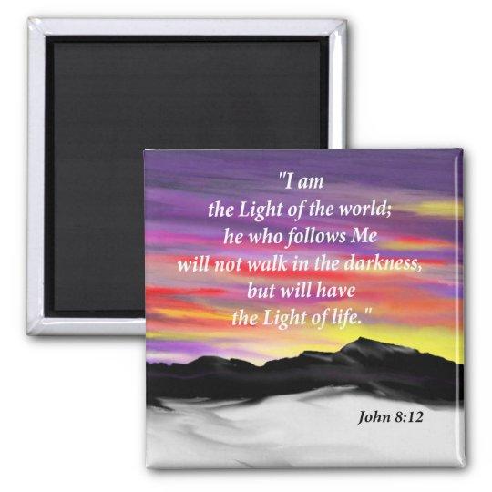 John 8:12 magnet