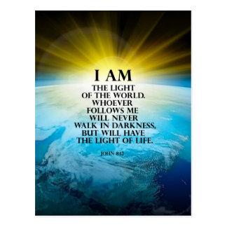 John 8:12 postcard