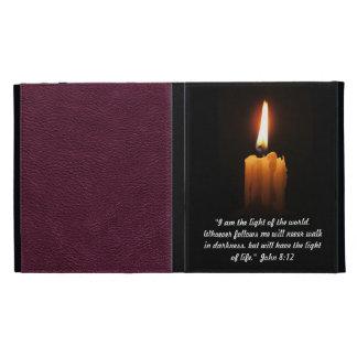 John 8:12 Quotation iPad Folio Cases
