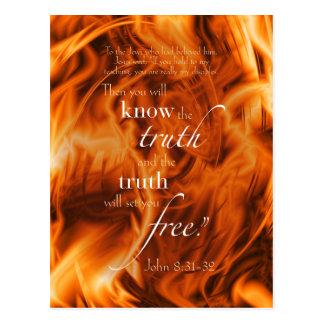John 8:31-32 postcard