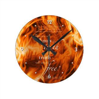 John 8:31-32 round clock