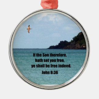 John 8:36 christmas ornament
