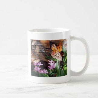 John 8 Gulf Fritillary Butterfly Basic White Mug