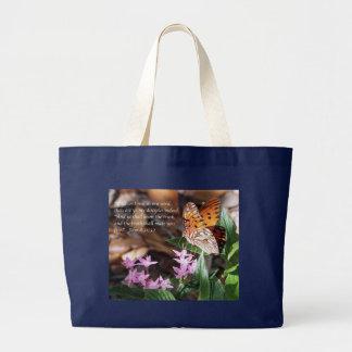 John 8 Gulf Fritillary Butterfly Large Tote Bag