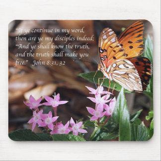 John 8 Gulf Fritillary Butterfly Mousepad
