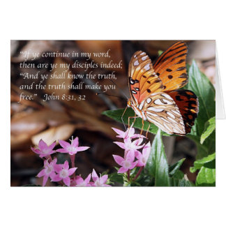 John 8 Gulf Fritillary Butterfly Note Card