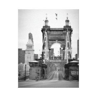 John A. Roebling Bridge, Cincinnati, OH Canvas Print