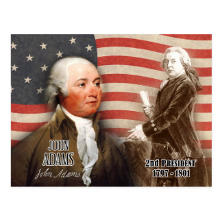 John Adams  - 2nd President of the U.S. Postcard
