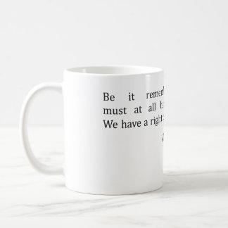 John Adams and Liberty Basic White Mug