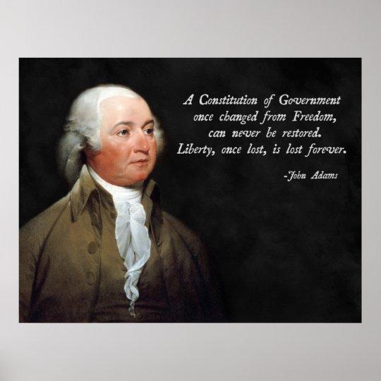 John Adams Constitution Poster